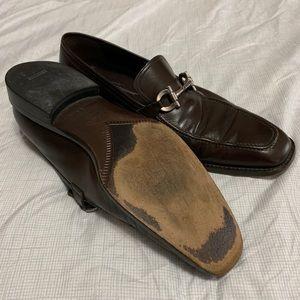 Salvatore Ferragamo Brown Loafers
